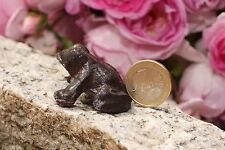 kleiner Frosch aus Gusseisen  Deco Garten  Braun Figur Skulptur