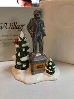 **RARE** Dept 56~Original Snow Village~Statue Of Mark Twain~51730~EUC