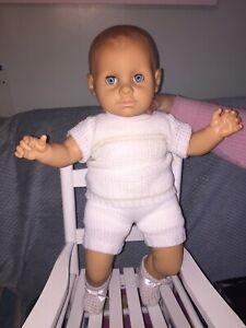 Vintage Zapf Baby Boy Doll Original Box/Clothes.