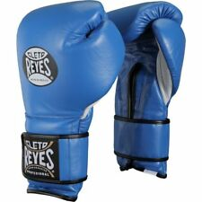 14 OZ Cleto Reyes Hook and Loop Leather Training Boxing Gloves - Blue