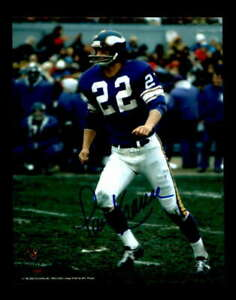 Paul Krause Hand Signed 8x10 Photo Autograph Vikings