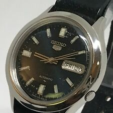 1991 VINTAGE SEIKO 5 21J AUTO. 7S25A MVT Day Date 37.5mm. X'COND'