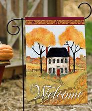 NEW Toland - Farmhouse Welcome - Fall Autumn Farm Gold Tree Garden Flag