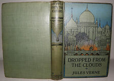 Dropped From The Clouds - Jules Verne, c1915+  Sampson & Low HB
