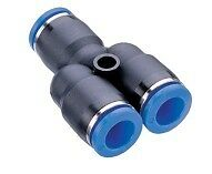 Pneumatic Push In Air Fittings - 5 x Union Y 8mm hose