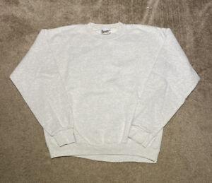 VTG 1990s Walt Disney World Light Heather Gray Blank Crewneck Sweatshirt Size M