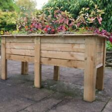 Raised Height Planter Deep Bed Large Wooden Trough 1.8m Long Root Winter Veg