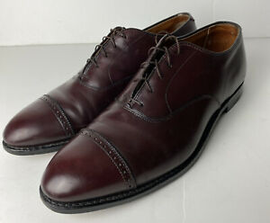 Alden New England 905 Mens Burgundy Leather Oxford Shoes Size 11 AA/B