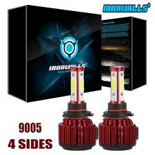 2x Ironwalls 4 Sides HB3 9005 375000LM LED Headlight Kit Bulbs Beam Light 6500K