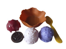Play Food Ice Cream With Toppings In Waffle Bowl New