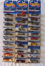 MATTEL HOT WHEELS 1999 FIRST EDITIONS SET OF 29 CARS! MUST SEE!