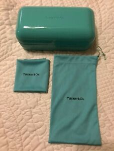 Empty Tiffany & Co. Sunglass Hard and Soft Case Cleaning Cloth