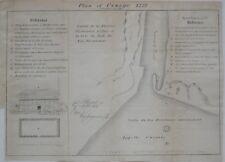 Original Antique Map FORT OSWEGO 1727 Lake Ontario New York Chaussegros de Léry