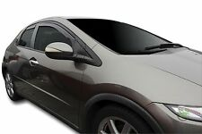 DHO17131 Honda Civic mk8 Tipo S 5 puertas 2006-2012 viento desviadores 4pc Heko Teñido