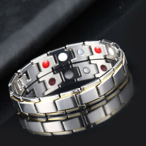 Stainless Steel Magnetic Therapy Bracelet Pain Relief Wristband Jewelry Gifts