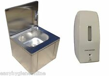 squid® Catering Hand Wash Sink Knee Operated Stainless Steel hands free basin