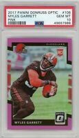 2017 Panini Donruss Optic #106 Myles Garrett Pink Prizm RC PSA 10 GEM MT POP 10