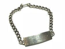 Beautiful Ladies Sterling Silver Nametag Bracelet - Ready For Engraving!
