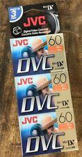 New listing 3 Pack Jvc Dvc 60 Digital Video Cassettes Mini Dv Lp mode New
