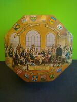 Vintage Fathers Of Confederation Hexagon Tin Made in England