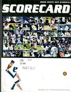 2000 White Sox Scorecard vs. Ms Very Good condition (A Rod, Martinez, Thomas)