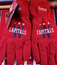 Washington Capitals Stanley Cup Champions Winter Classic Fleece Gloves Large