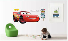 Disney Cartoon lightning McQueen Cars HUGE Wall Stickers Kids Home Decor USA