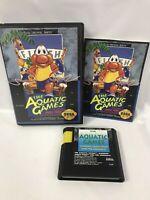 Aquatic Games Starring James Pond (Sega Genesis, 1992) - CIB - Tested/Working