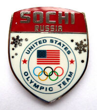 2014 Sochi Olympic Pin - Red Shield