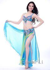 New Belly Dance 2 pics Costume Bra+ Belt Set Outfit USA 34B -USA 40D  10/2345