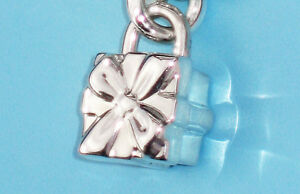 Tiffany & Co Sterling Silver Solid Padlock Charm BOW Box charm