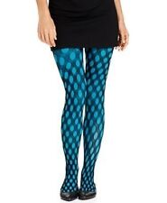 Hue Hosiery Sz S / M  Glacier Layered Tights Solid + Net 3 In 1 62856 Hue Tight
