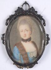 "Anton Graff (1736-1813)-Circle ""Portrait of a lady"", miniature, ca. 1770"