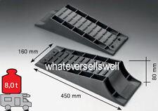 TWIN LEVEL RAMP SET for motorhome caravan is leveller pair ramps 2 wheel chocks
