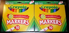 2 X Crayola 10 Count (Broad Line) Color Marker Box (2 Box Lot) *New In Box!