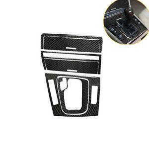 6Pcs Carbon Fiber Console Gear Shift Panel Ashtray Cover Trim For BMW E46 98-05
