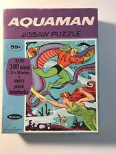 Vintage Whitman 100 Piece Aquaman Jigsaw Puzzle 1968 Complete with Box