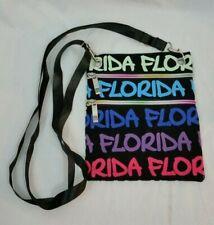 Robin Ruth Original Florida Cross Body Handbag Purse Neck Wallet Rainbow Zipper