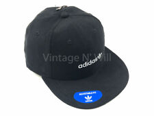 Adidas Originals Relaxed Black Faux Suede Leather/ White Trefoil Logo Cap Hat