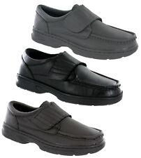 Dr Keller Texas Leather Wide Fit Lightweight Adjustable Comfort Smart Mens Shoes