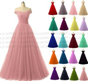 New Long Formal Wedding Evening Party Ball Gown Bridesmaid Dress Stock 6-30