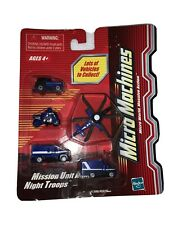Micro Machines 5 Vehicle Pack Mission Unit Alpha Night Troops New Rare