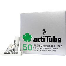 actiTube SLIM Aktivkohle Kohle Filter  Aktivkohlefilter Tune (7 mm) (50 Stück)