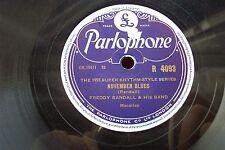 FREDDY RANDALL 78 HINDUSTAN / NOVEMBER BLUES PARLOPHONE R 4093