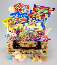 """Great Value Retro Sweet Hamper 12"""" Real Wicker Birthday Thank You Get Well His"""