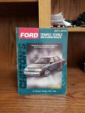 CHILTON Repair Guide Manual 8271 FORD TEMPO Mercury Topaz 1984 - 1994