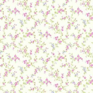 Luxury Designer Coloroll Cosy Posy Candy Pink Floral Wallpaper M0762 Batch A