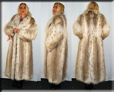 New Russian Lynx Fur Coat Size Medium 6 8 M Efurs4less