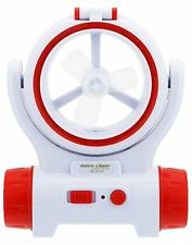 Rechargeable Emergency Light Torch With Fan, Bright LED Light, Portable (3 In 1)