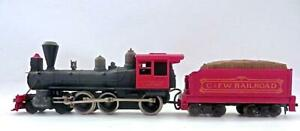 TYCO HO 4-6-0 Petticoat Junction Hooterville Cannonball Loco & Red Tender (4EJ)